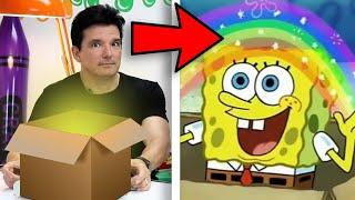 Drawing Spongebob with whatever is in the MYSTERY BOX!   Butch Hartman