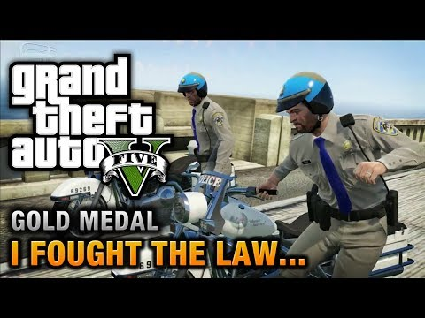 GTA 5 - Mission #41 - I Fought the Law... [100% Gold Medal W