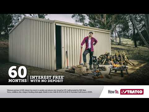60 months Interest Free Terms Garages | Stratco Shed Quarters