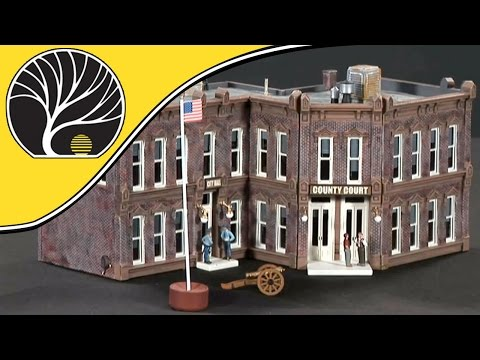 County Courthouse – HO Scale DPM® Select Building Kit | Woodland Scenics®