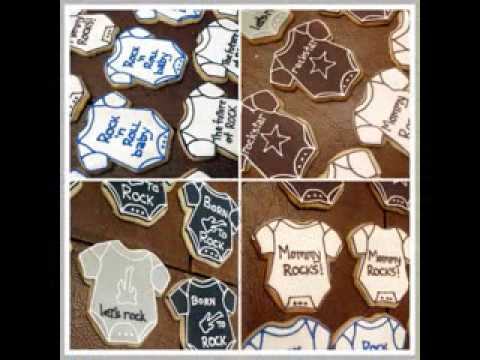 DIY rock star baby shower decorations