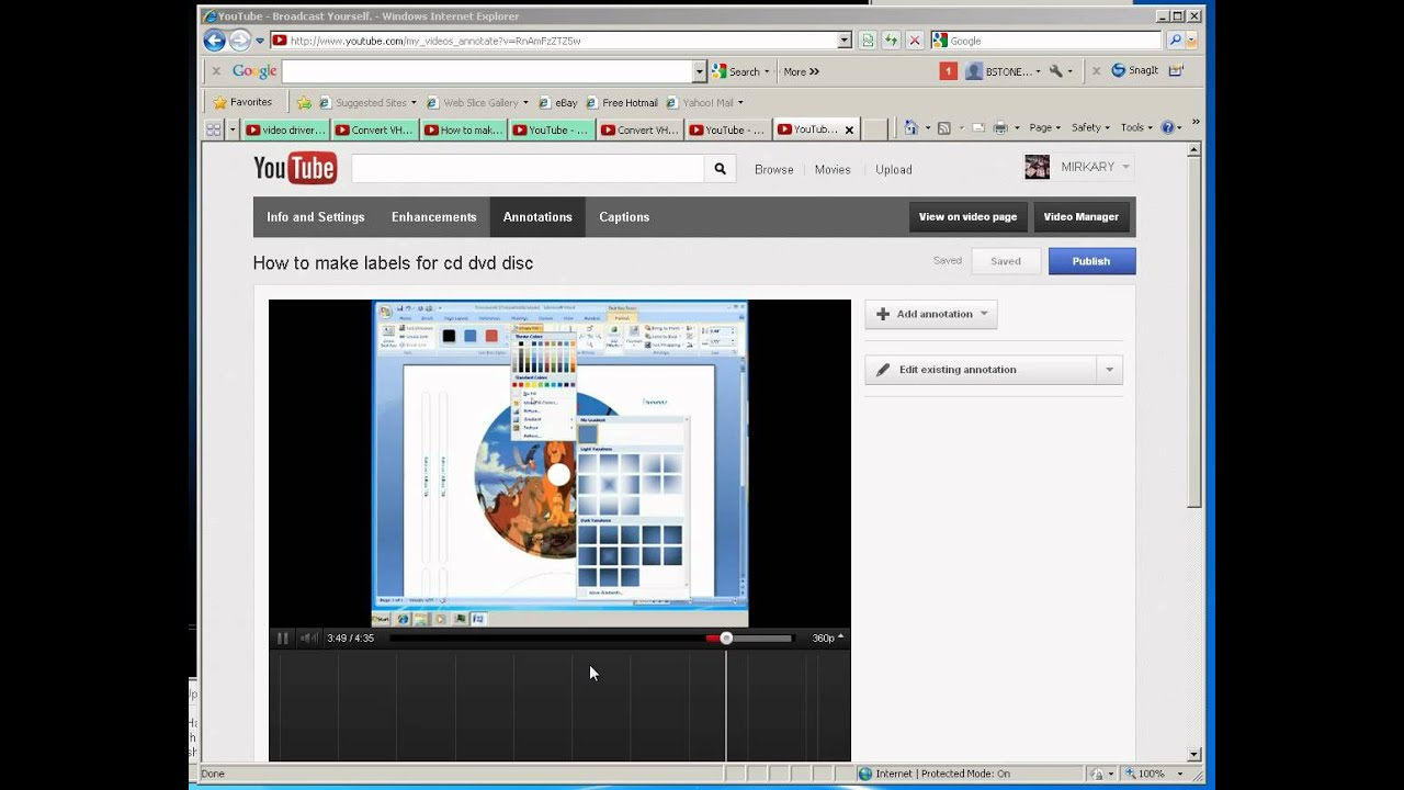 how to add a link annotation to a youtube video
