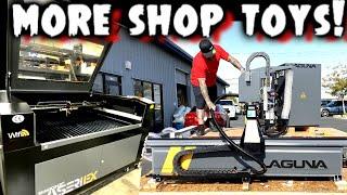 Crack Open the Crates! NEW Laguna SmartShop M2 CNC & Laser Arrive