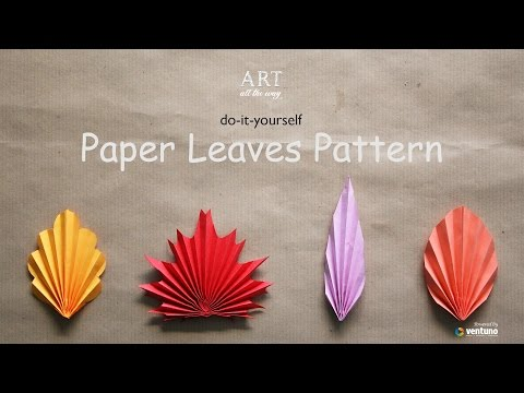 how to make long oragami leaves