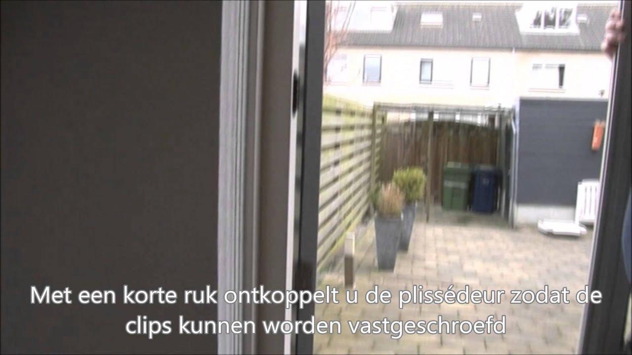 Super Plaatsen Plissé hordeur in de dag (tussen kozijnstijlen) - YouTube TV64