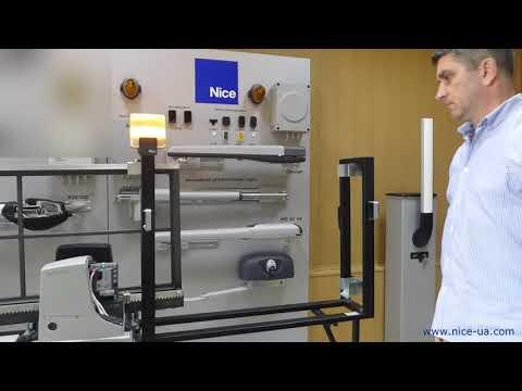 Видеоинструкция  Начальное программирование привода для откатных ворот NICE RB600
