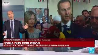 Bomb hits army bus in Damascus, shells target rebel-held northwest • FRANCE 24 English