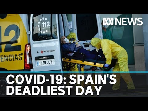 Spain Records Deadliest Day In Coronavirus Pandemic, Hospitals Struggling | ABC News