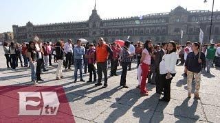 Participan cientos de capitalinos en el megasimulacro de sismo/ Comunidad