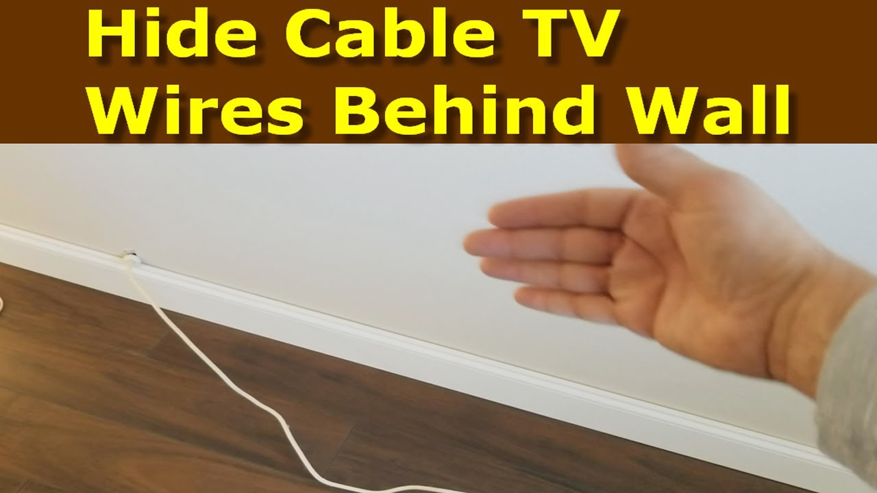 How Hide Cable Wires Wall Youtube
