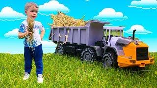 Купили новый Трактор Видео про машинки Bruder  для детей