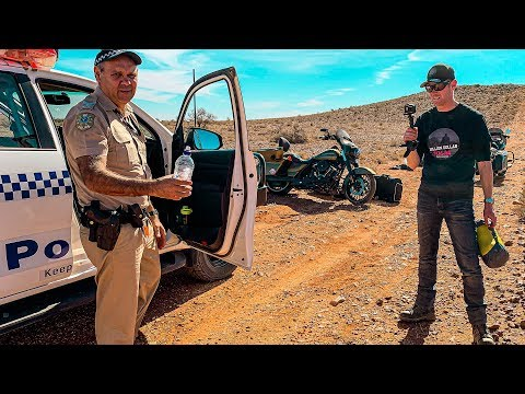 STRANDED ON THE HARLEY IN OUTBACK AUSTRALIA