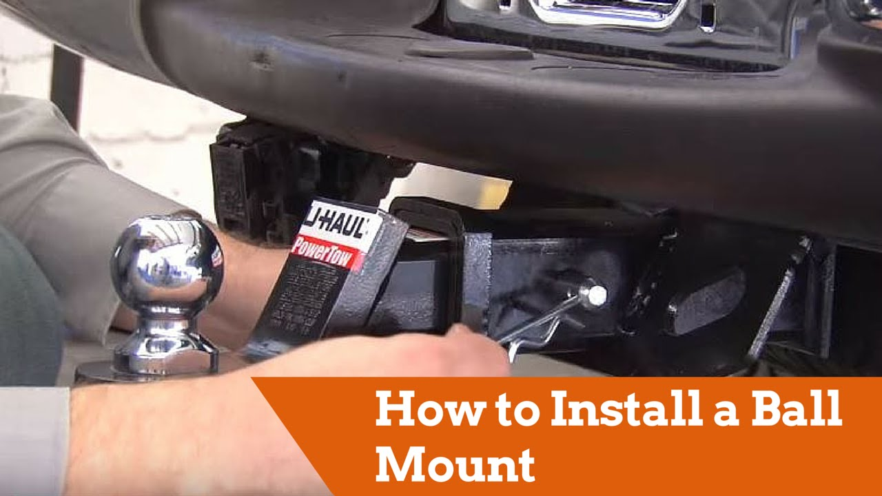 how to install a ball mount onto your vehicle