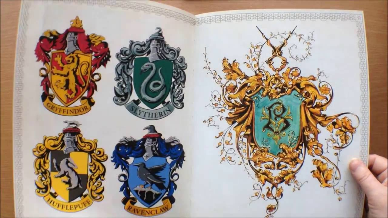 Harry Potter Colouring Book Flipthrough - YouTube