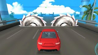 DEADLY RACE #4 Speed Red Car Bumps Challenge 3d Gameplay Android IOS