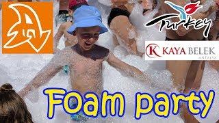 Kaya Belek 5* Пенная дискотека на пляже. Hotel Kaya Belek. Foam party on the beach
