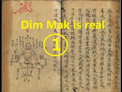 Dim Mak(the death touch, touch of death) is real(1)(LiangYi DimMak and ShaoLin DimMak)(new version)