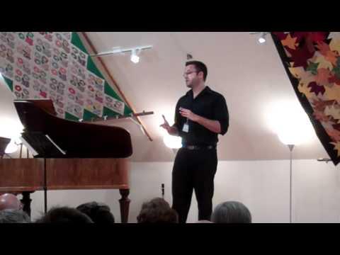 Speech by Sabatino Scirri, NMF Arts Administration Apprentice