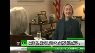 "Hillary on Gaddafi - ""we came, we saw, he died."" laughing? What an Embarrassment"