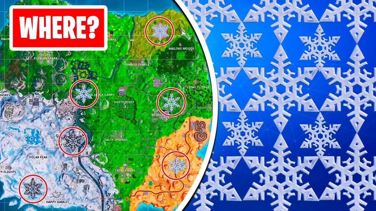 Fortnite Snowflake Decorations Map Locations For Destroy Snowflake