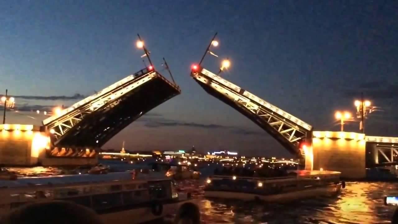 Развод мостов в Санкт-Петербурге - YouTube