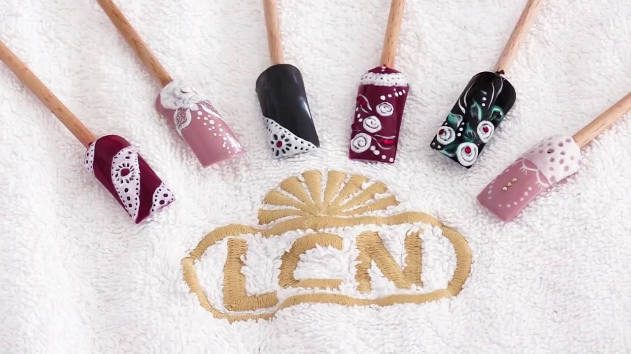 Lcn Mbcare Nail Art Met 4d Gel Van Lcn Youtube
