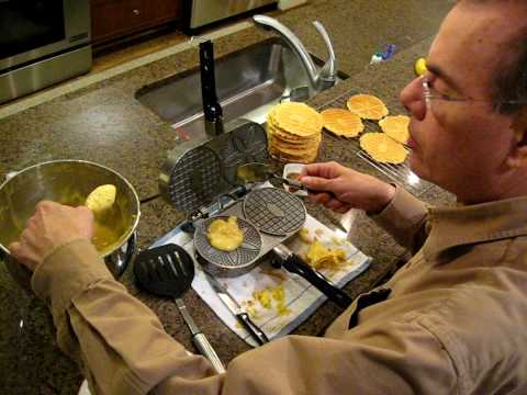 Making Pizzelle Cookies [Franks recipe is yummy)
