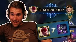 Gripex - INSANE LEE SIN BARON STEAL + QUADRA KILL!