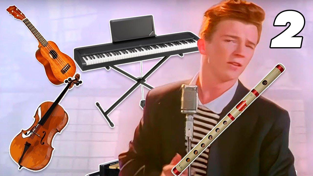 Rickroll pero cada 7 segundos el instrumento cambia - parte 2
