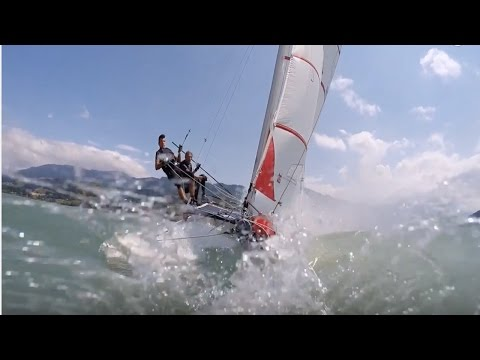 Hobie Cat 16 high speed and pitchpole