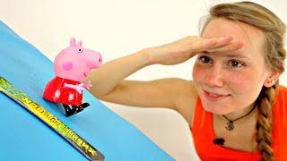 Видео для детей. Свинка Пеппа: уроки сноуборда. Мультик из игрушек.(Свинка Пеппа осваивает сноуборд! Казалось, что может быть легче, чем скатиться со снежной горки на специаль..., 2016-01-21T14:53:05.000Z)