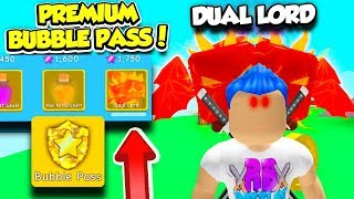 I GOT THE HIGHEST TIER PET IN THE BUBBLE PASS PREMIUM REWARDS IN BUBBLE GUM SIMULATOR! (Roblox)