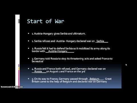 world war i audio notes