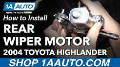 How to Replace Rear Wiper Motor 00-07 Toyota Highlander
