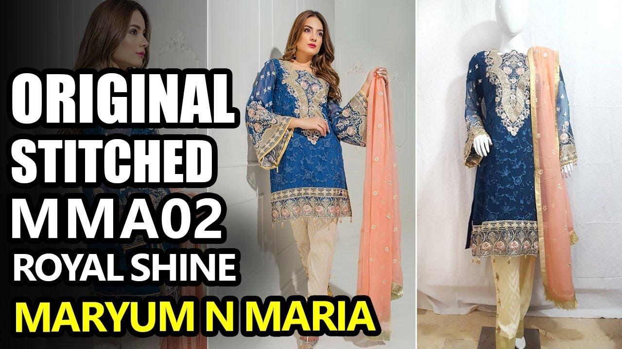 7bd2b16830 Maryum N Maria Luxury Chiffon 2018 - Stitch Royal Shine MNM-A02 - Pakistani  Branded Clothes. Sara Clothes