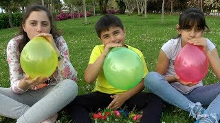 Guka Nastia and Maria Playing with 🎈Balloons🎈 Learn Colors and Singing Colors Song