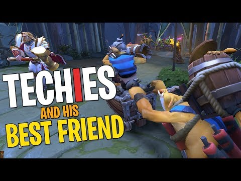 Techies & His Best Friend - DotA 2 Funny Moments
