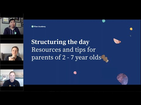 For parents: setting a daily learning schedule for learners ages 2-7