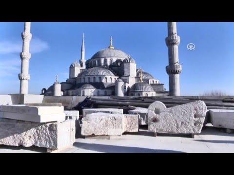 400 yaşındaki minare yeniden örülüyor