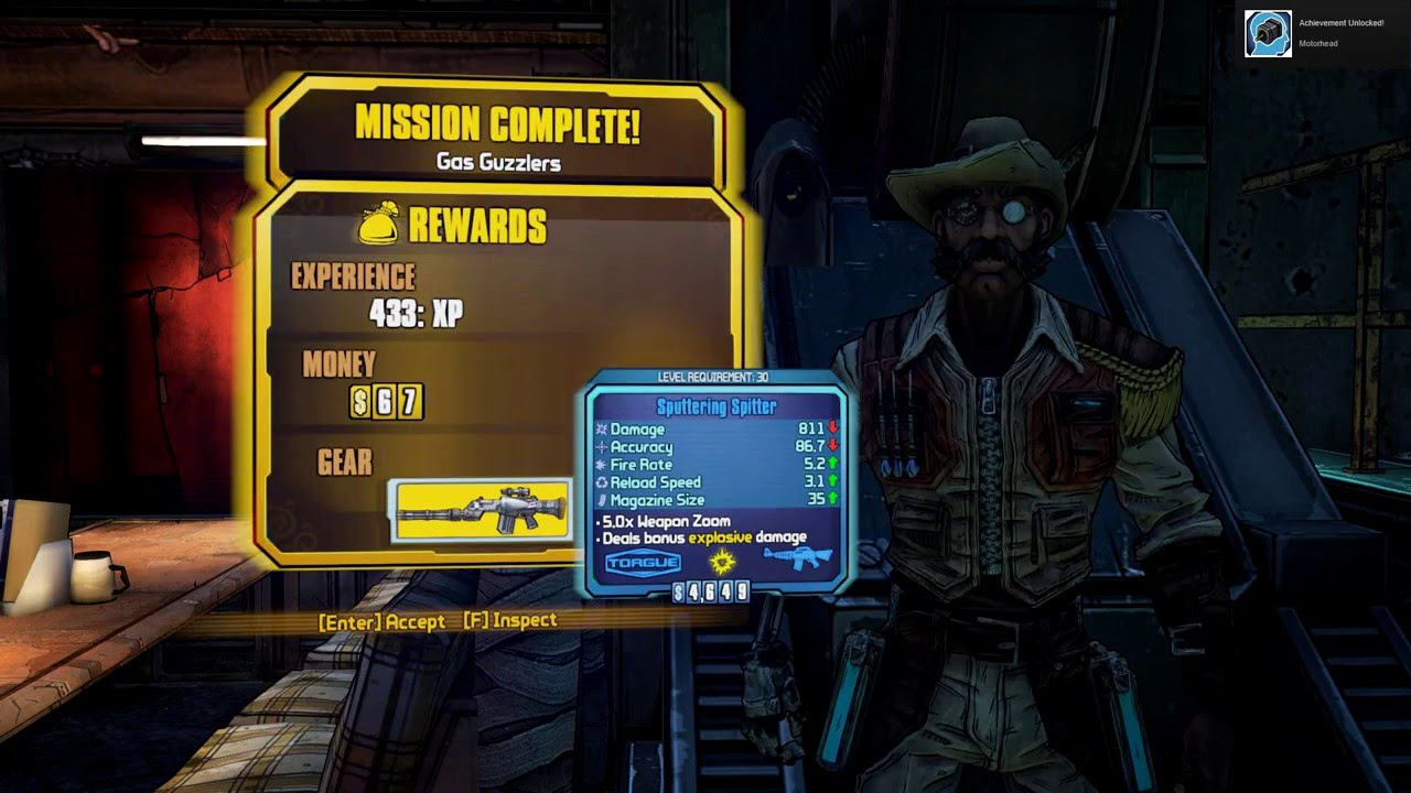 Borderlands 2 Achievement Motorhead 1080p Youtube