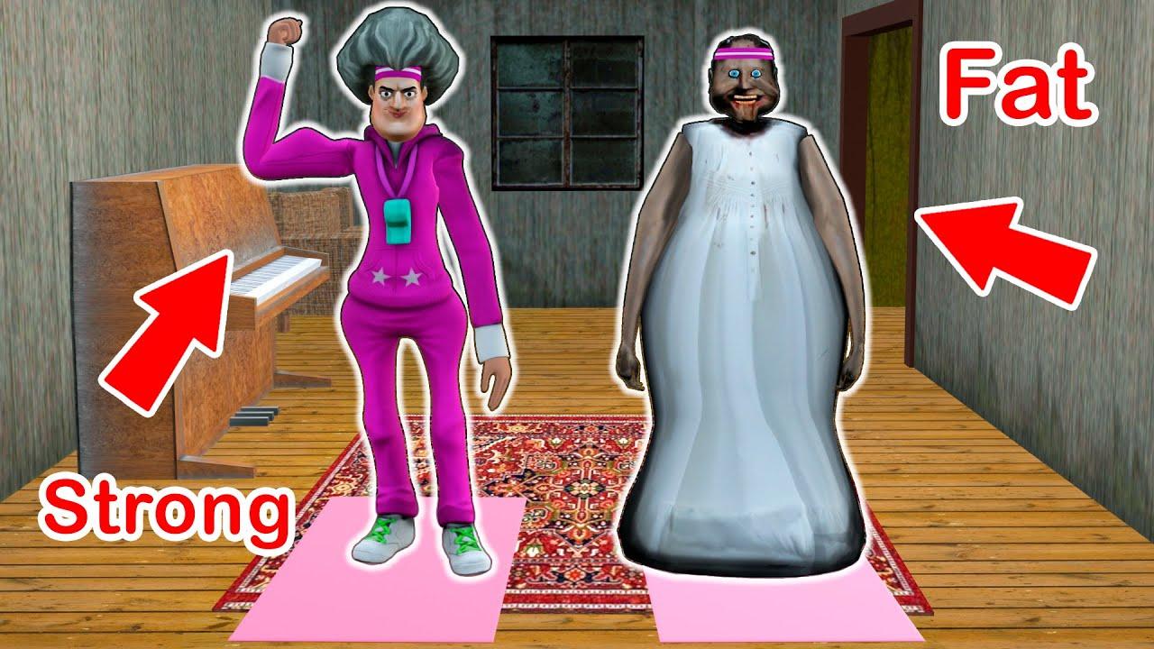 fat Granny vs sports Scary Teacher - funny horror animation parody (p.103)