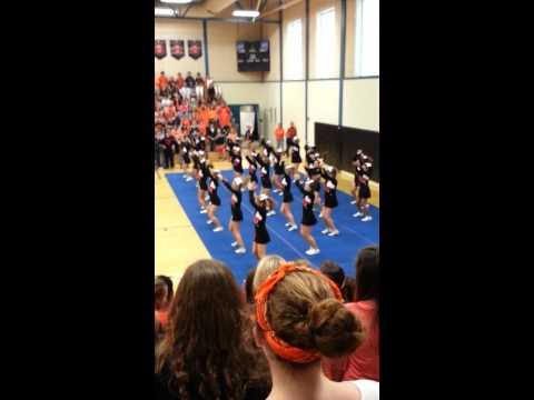 Brunswick High School cheerleaders