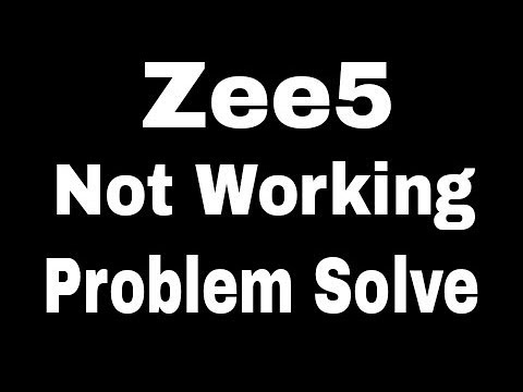 Zee5 App All Problem And Not Working Error Issues Problem Solve in Android