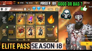 GARENA FREEFIRE ELITE PASS - SEASON 18 || WHERE IS EMOTE ? 😕