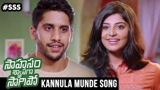 Download Hindi Video Songs - Saahasam Swaasaga Saagipo Movie Songs | Kannula Munde Song Trailer | AR Rahman | Naga Chaitanya