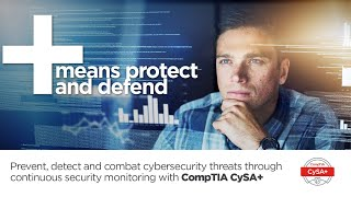 Learn more about the CompTIA Cybersecurity Analyst (CySA+) exam