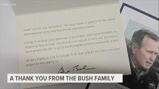 Bush family sends thanks for 'sweet remembrances'