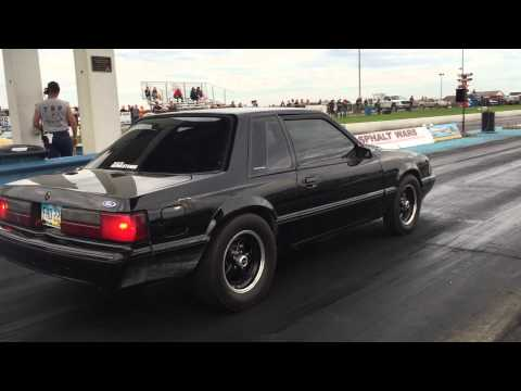 88 Ford Mustang Coupe Stock Block NOS Pass 10.48 Thompson Drag Raceway Neomustangs