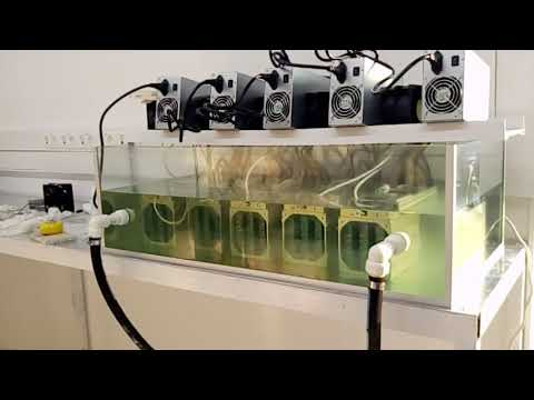 Antminer S9 Bitcoin Oil cooling system