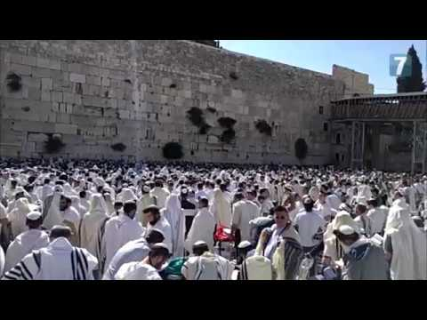 Thousands pray at the Western Wall on Jerusalem Day